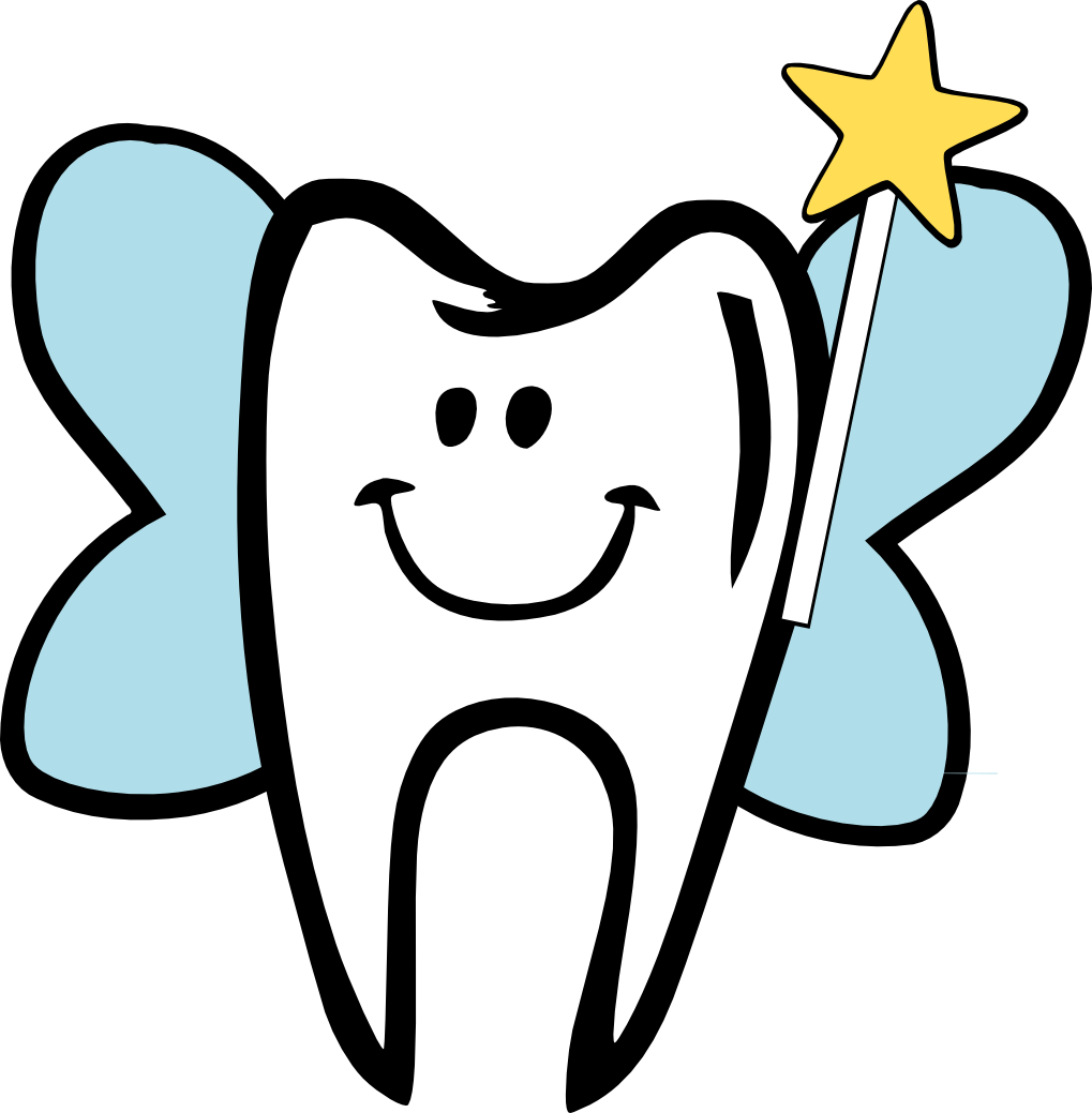 Tooth clipart illustration.