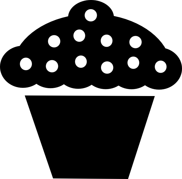 dessert clipart black and white