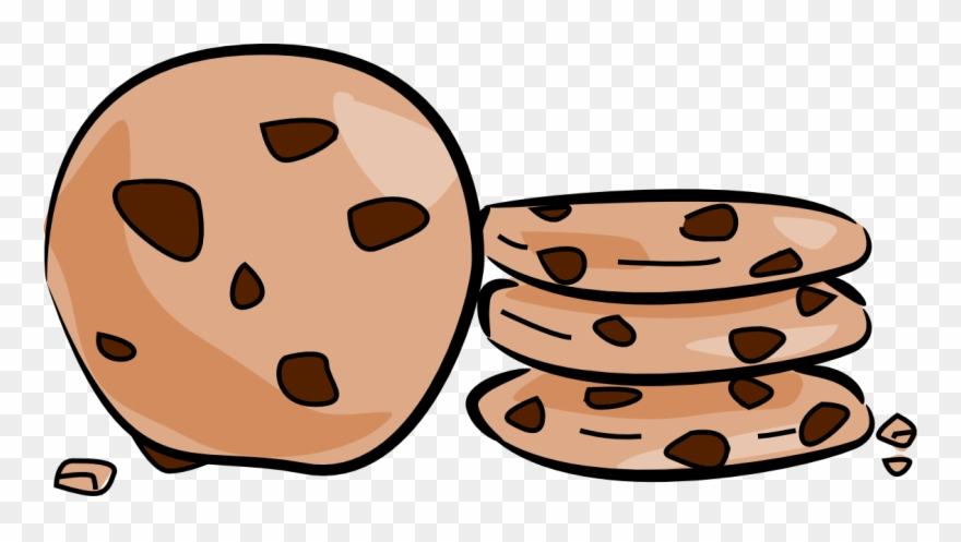 Bake sale clipart chocolate chip cookie.