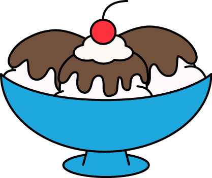 Dessert clipart hot fudge sundae.