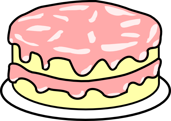 clipart cake pink