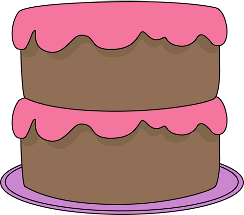 cake clipart pink