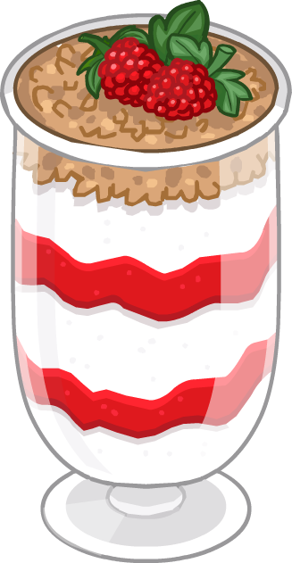 Dessert clipart strawberry parfait.