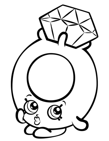 Diamonds clipart colouring page.