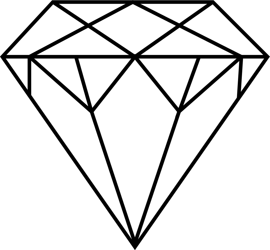 Diamonds clipart minimalist.