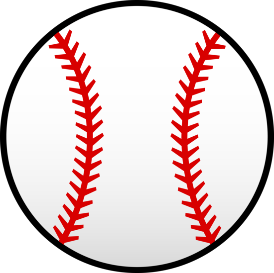 baseball laces clipart red