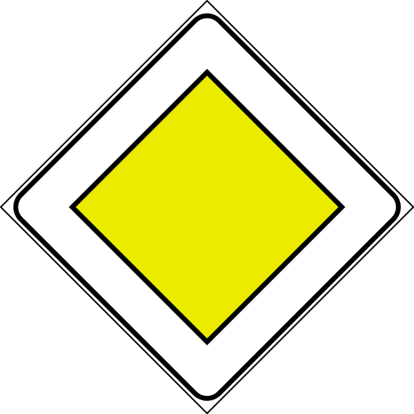 Diamonds clipart road sign.