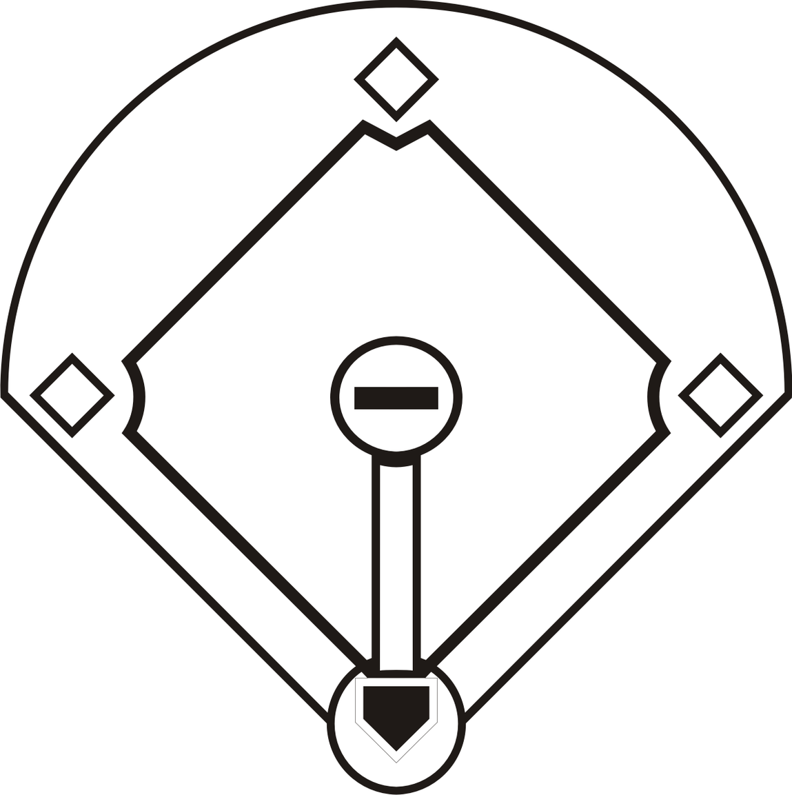 Diamonds clipart softball.