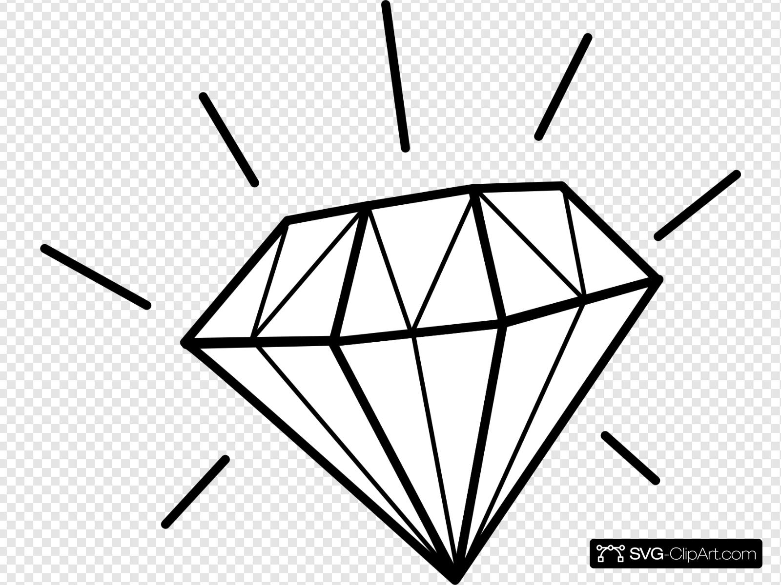 Diamonds clipart svg.