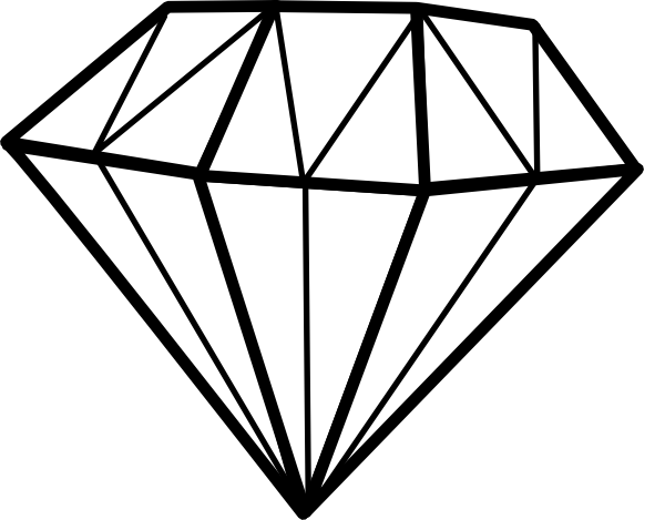 Diamonds clipart number.