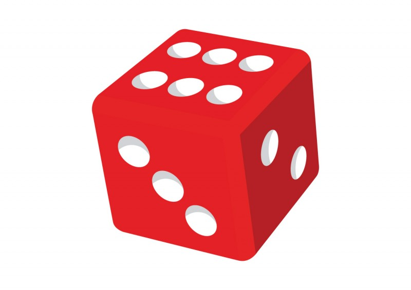 dice clipart colorful