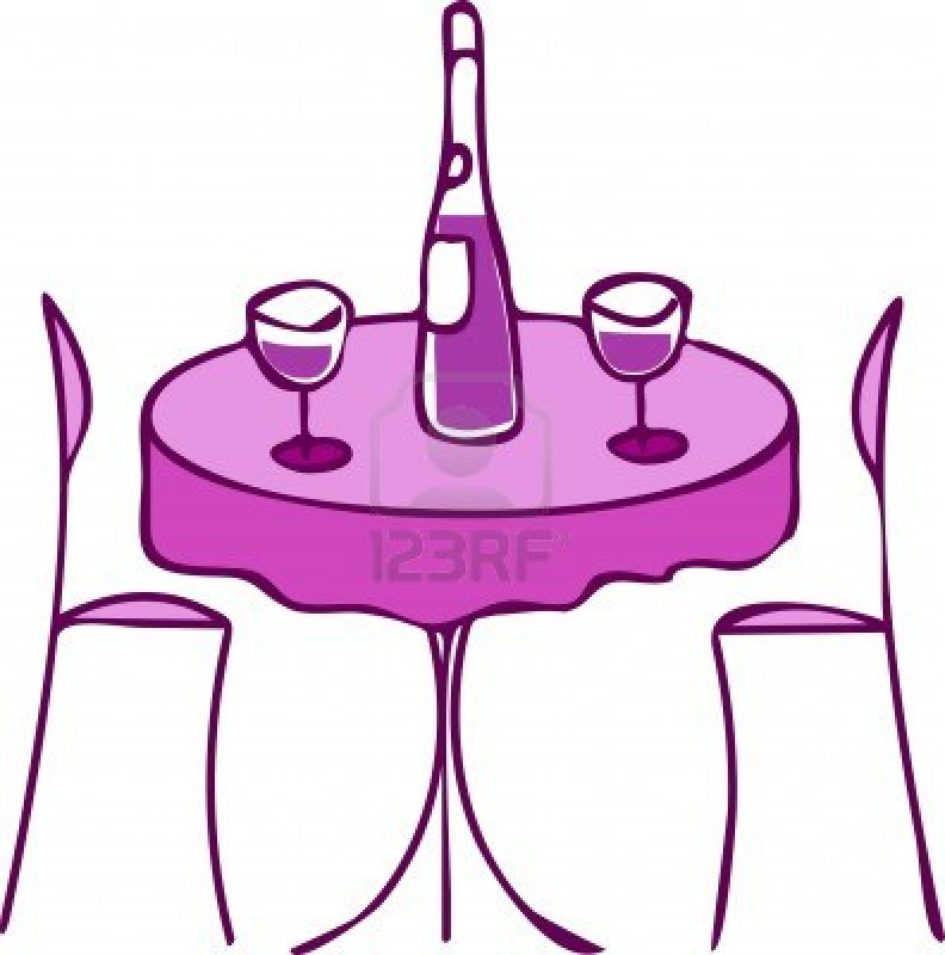 Dinner clip art dinner table.