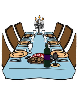 Dinner clip art evening meal.