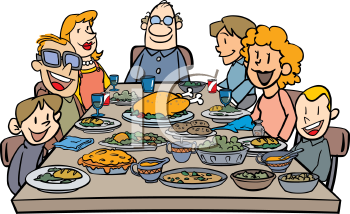 Dinner clip art family dinner.