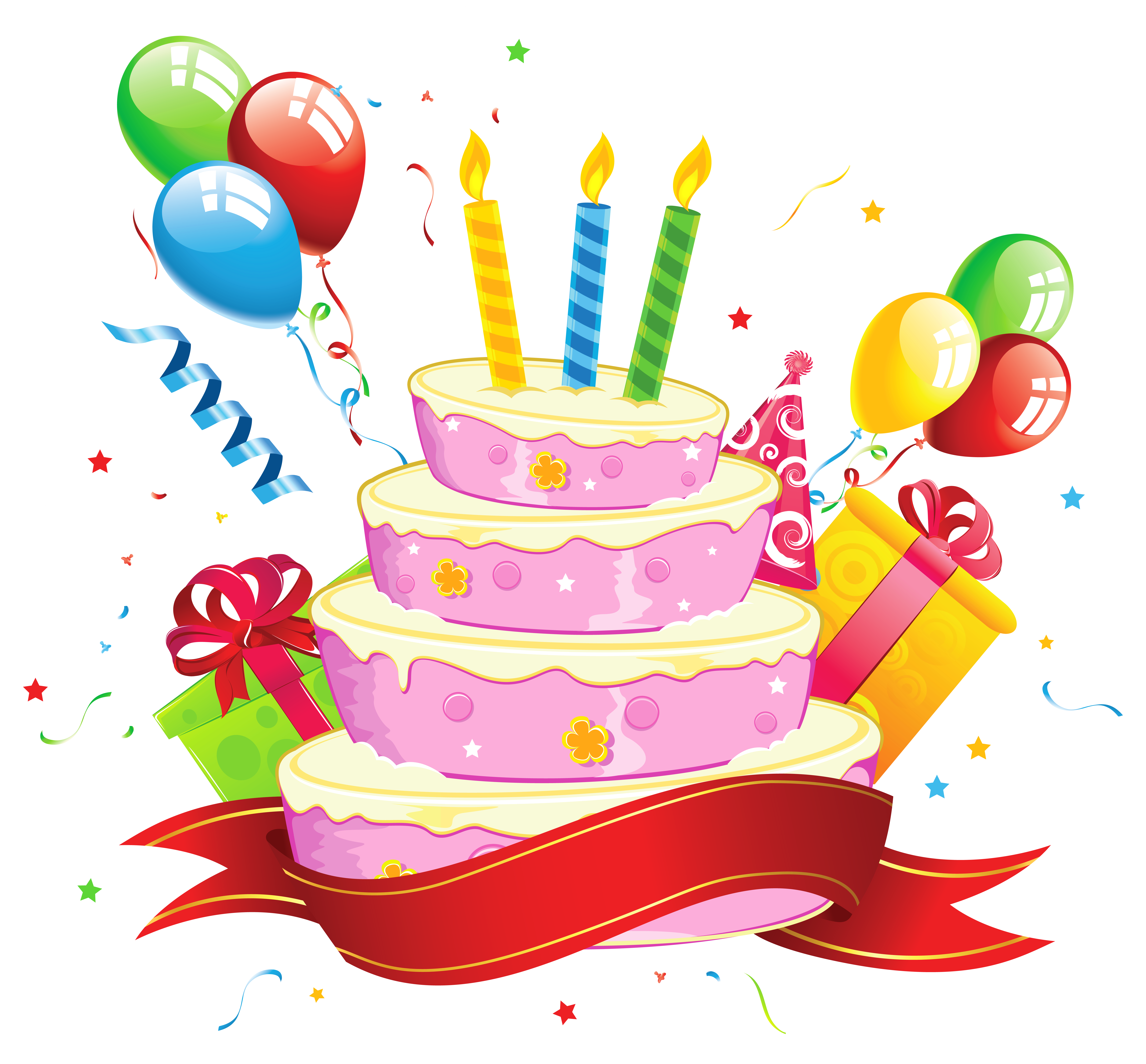 free birthday clipart transparent background
