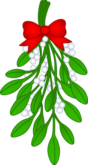 holly clipart mistletoe