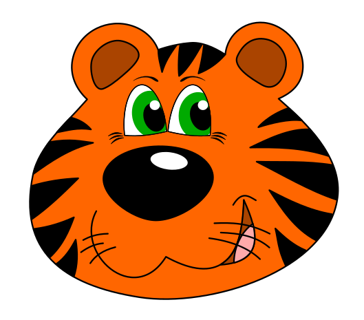 tiger clipart face