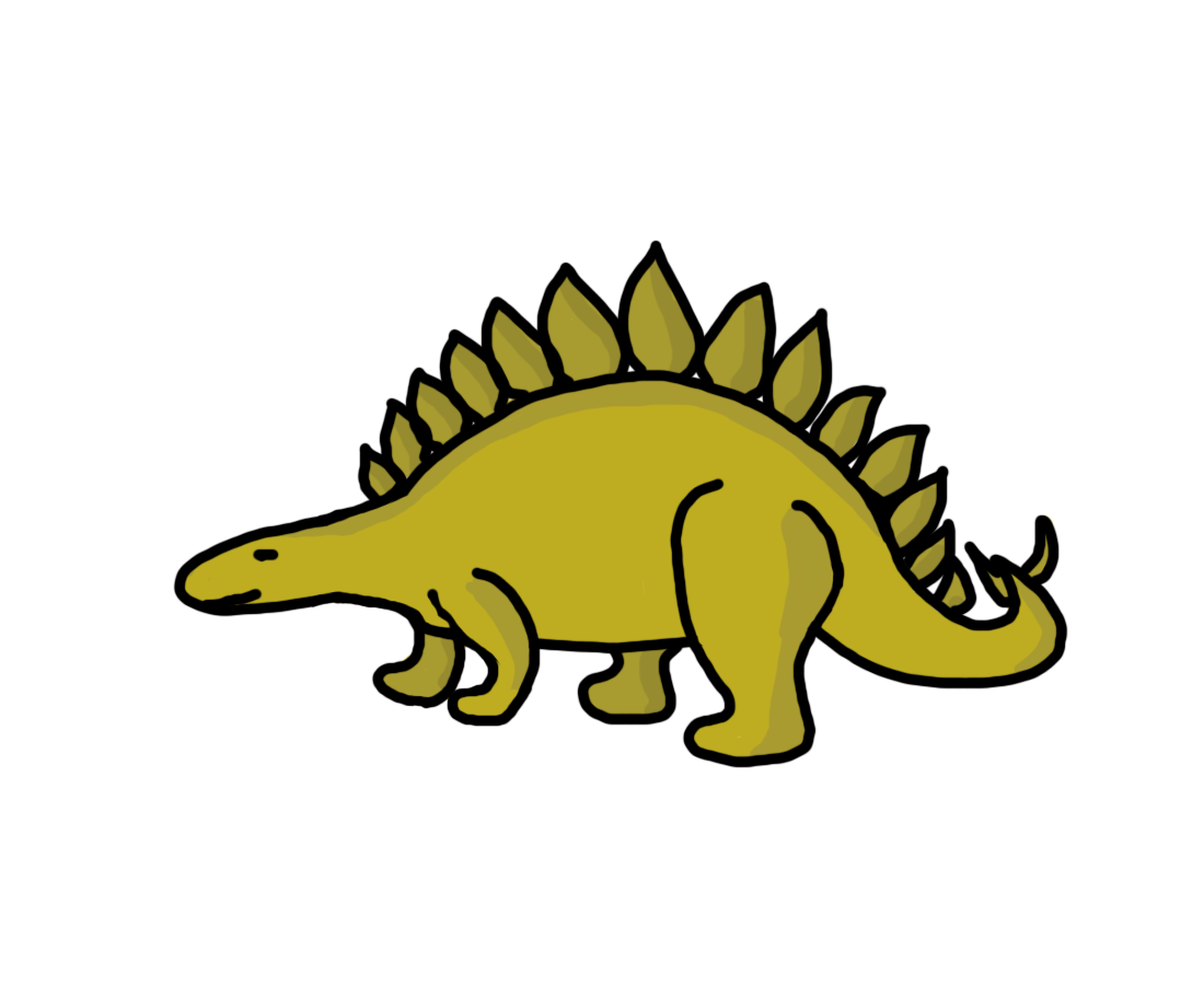 Dinosaur clipart sign.