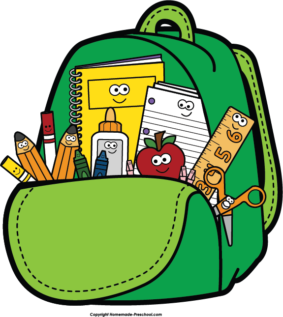 backpack clipart pre school