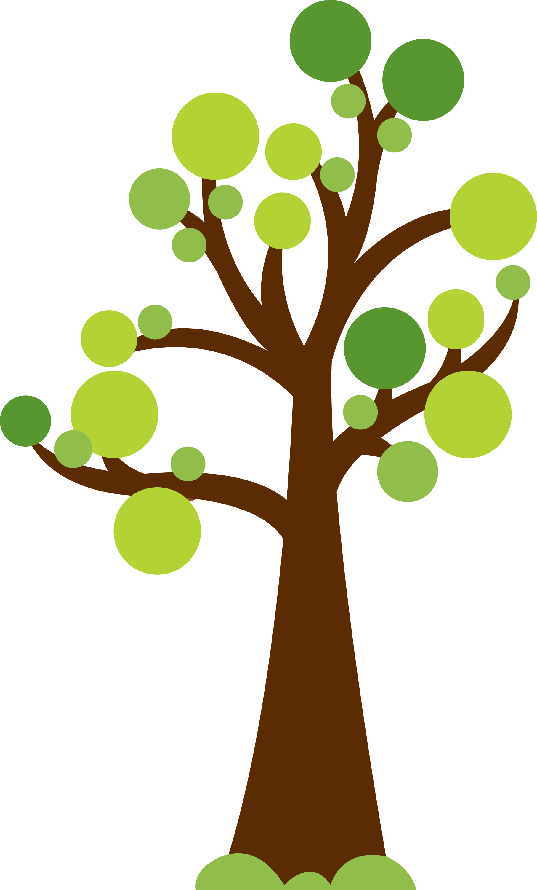 clipart trees cute
