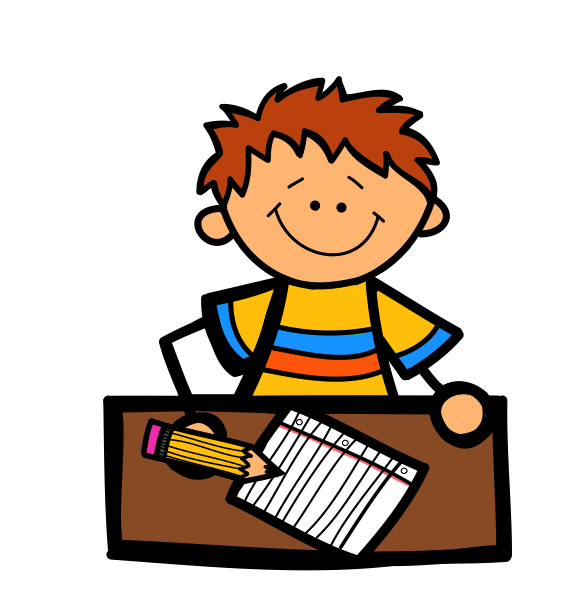 writing clipart child