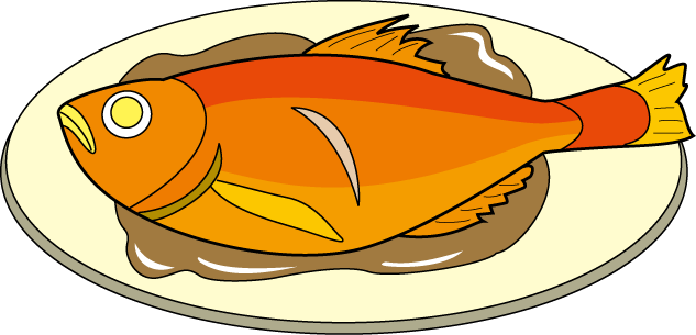 Dish clipart fish cooked.