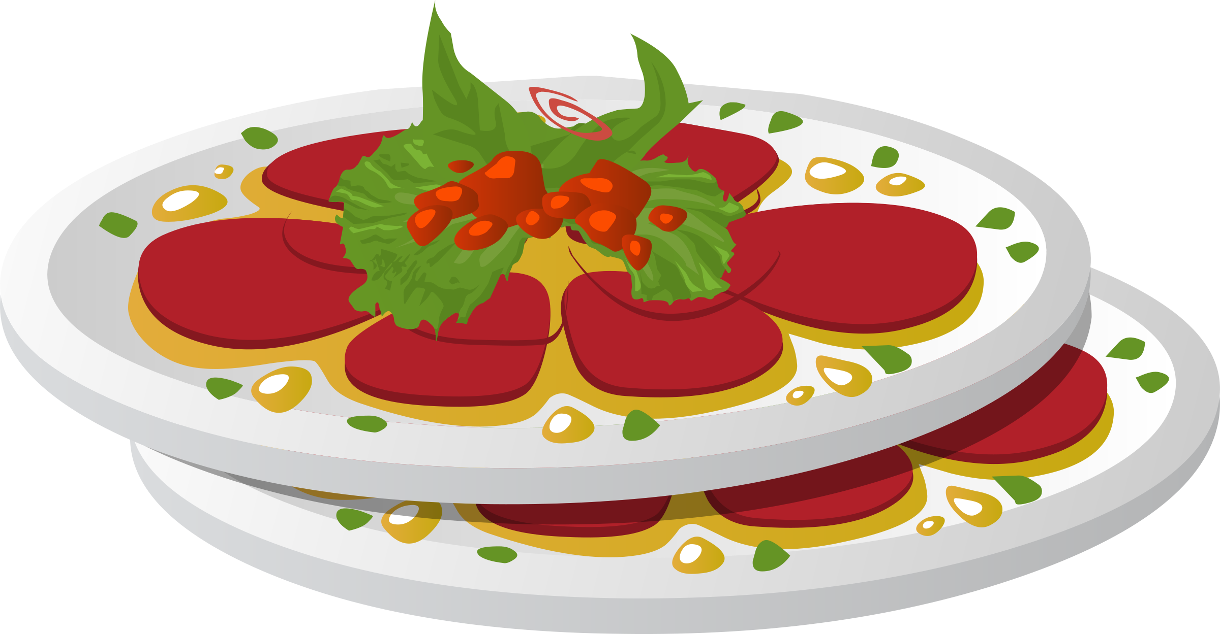 Dish clipart colorful plate.