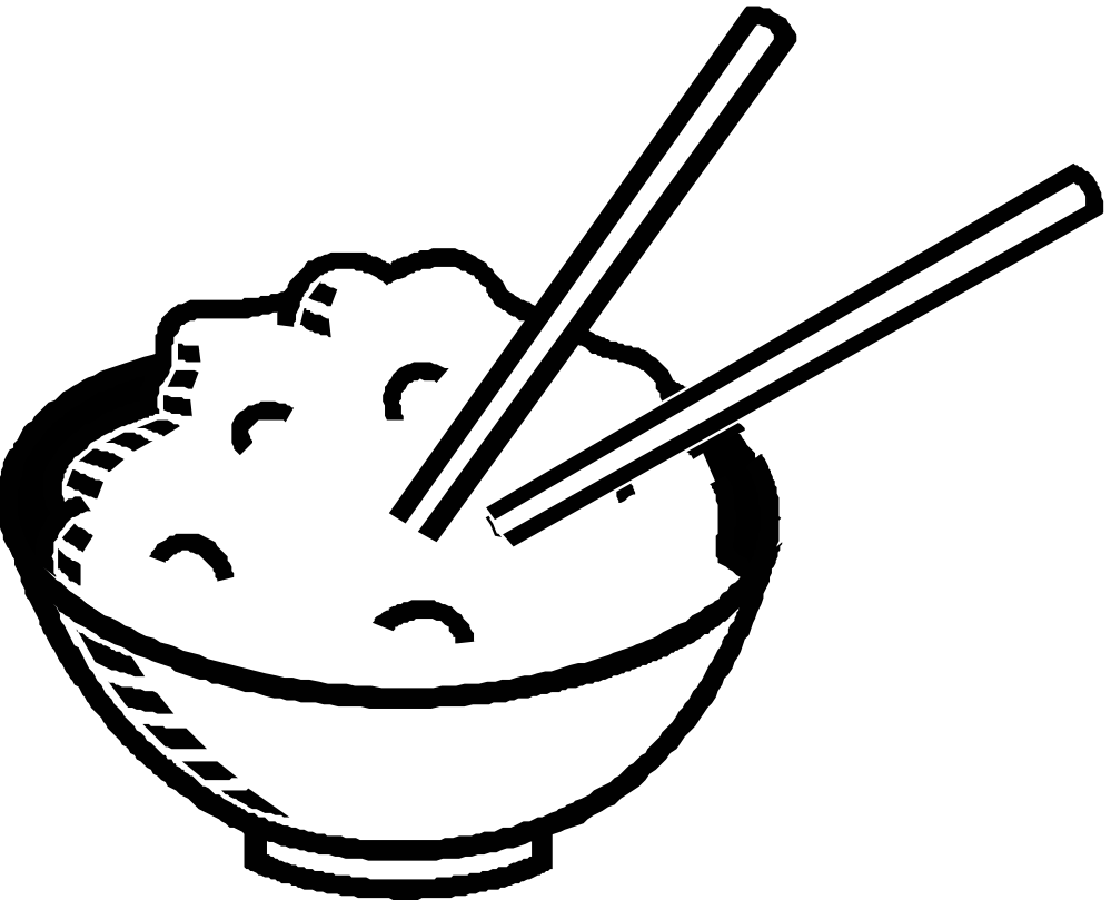 dish clipart coloring page