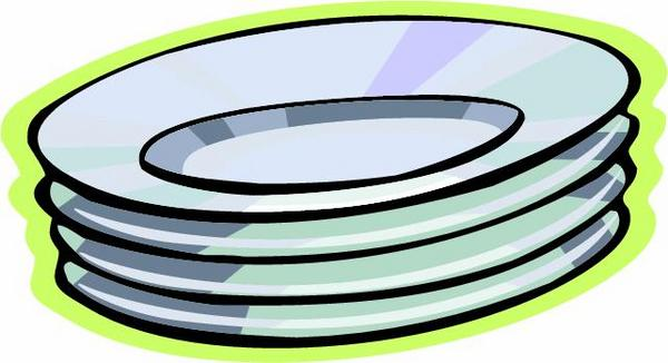 Dish clipart plate glass.