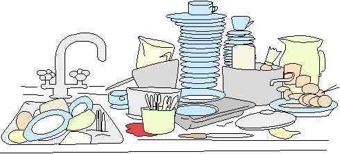Dish clipart stack dish.