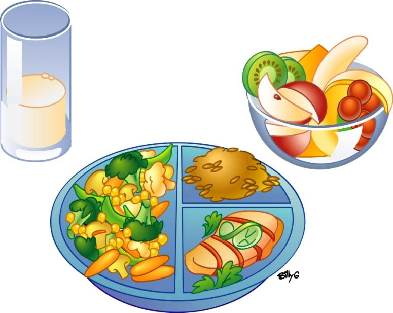 Dish clipart lunch plate.