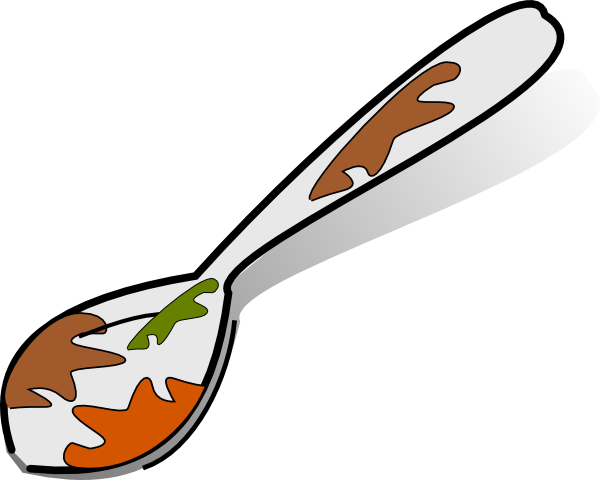 Dish clipart messy.