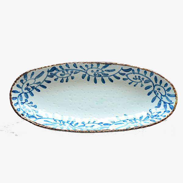 Dish clipart oval plate.