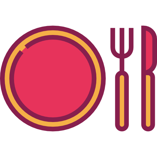 Dish clipart pink plate.