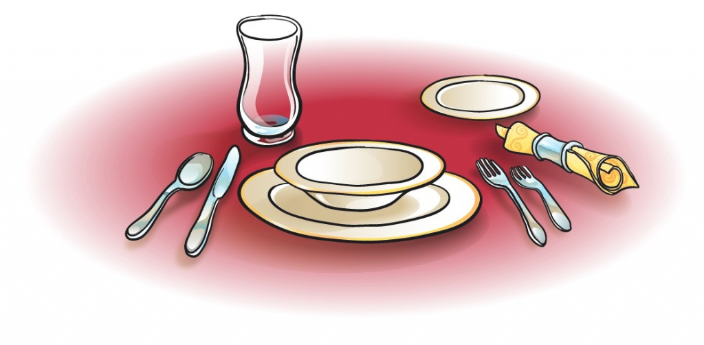Dish clipart place setting.