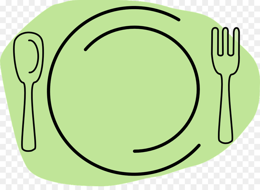 Dish clipart plate cutlery.