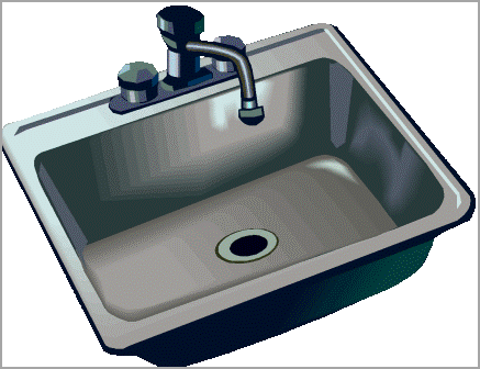 Dish clipart sink clipart.