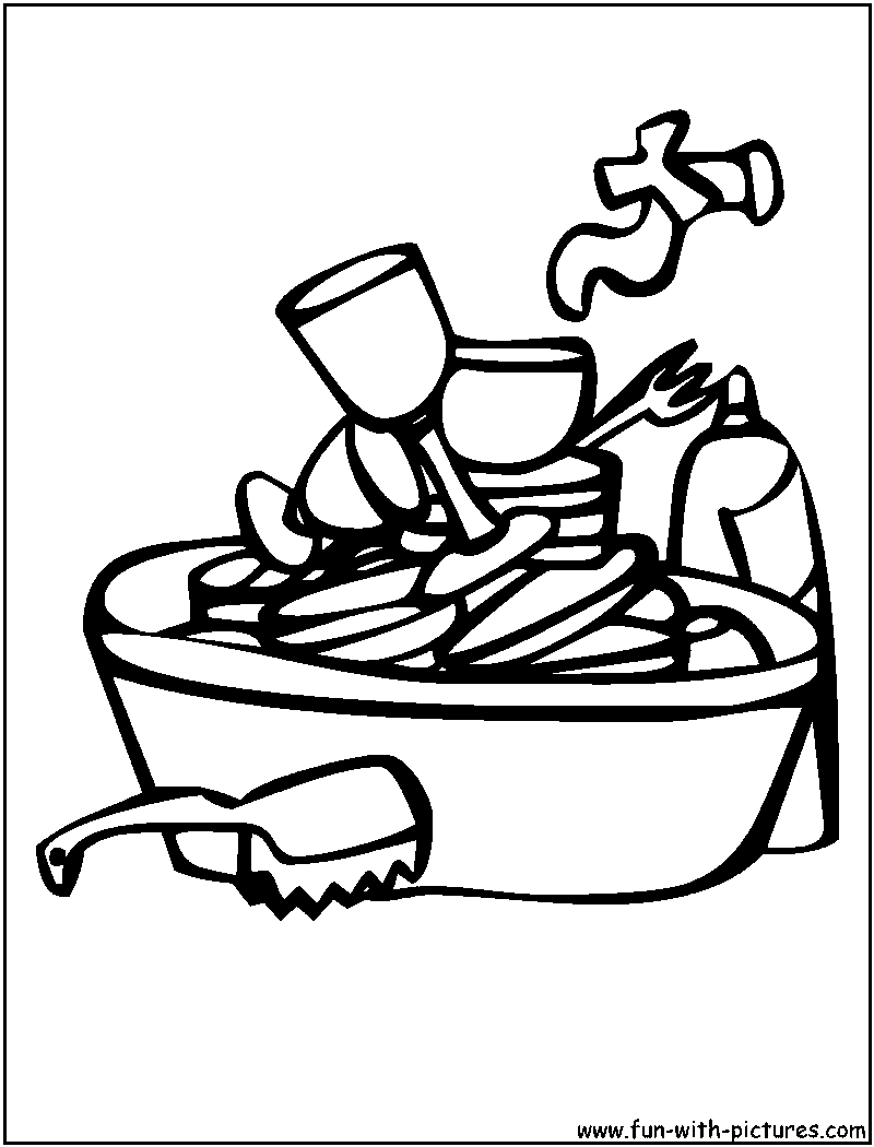 Dish clipart sink drawing.