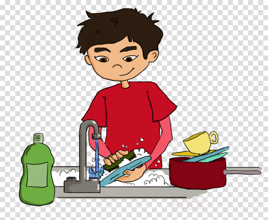 Dish clipart washing area.
