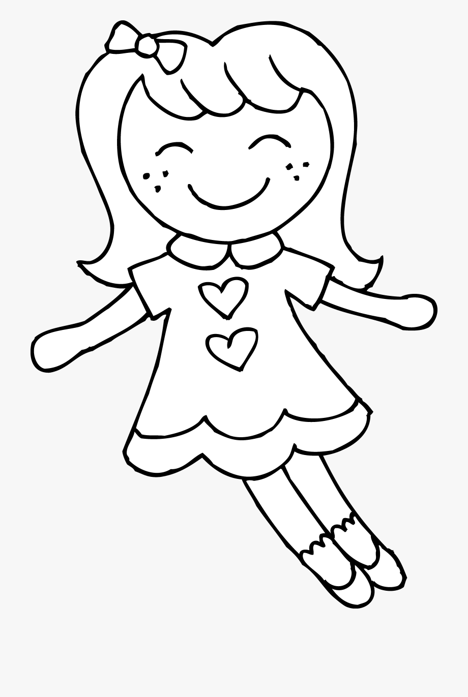 doll clipart coloring