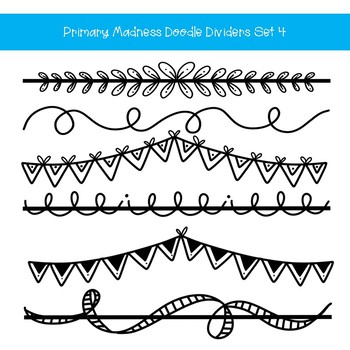 page divider clipart hand drawn