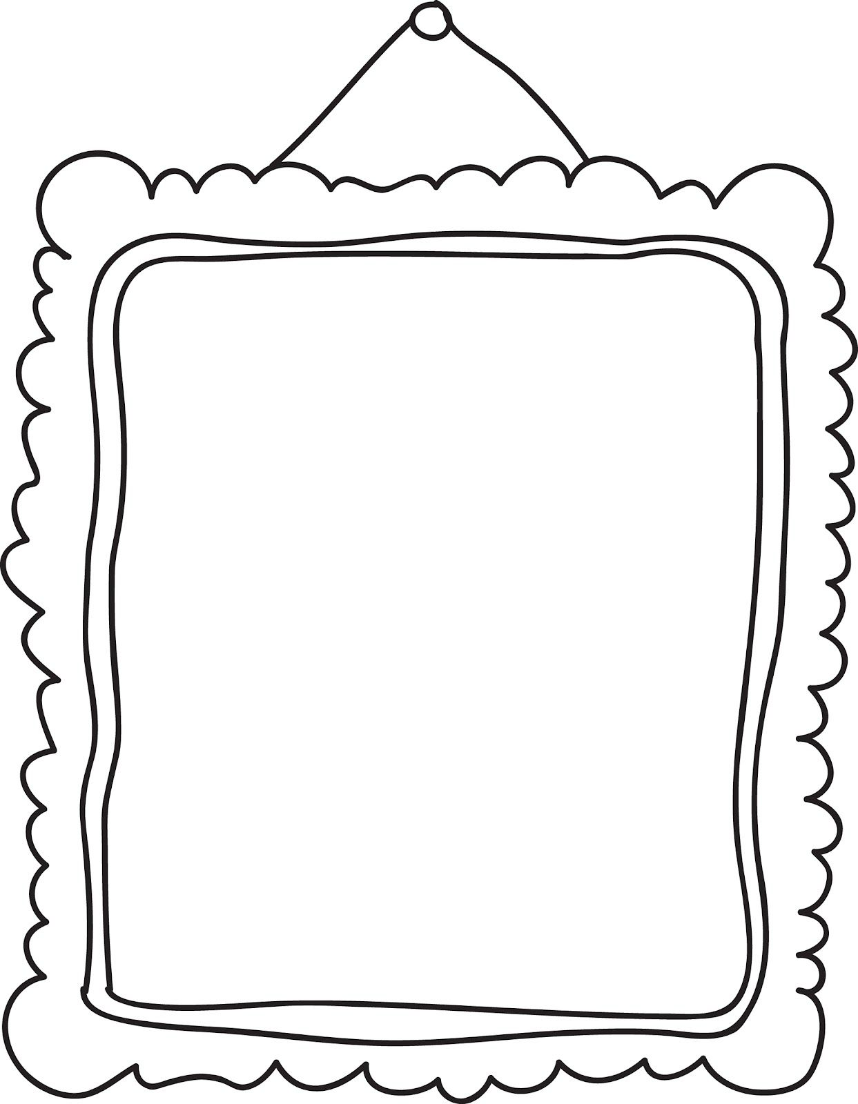 picture frame clipart cartoon