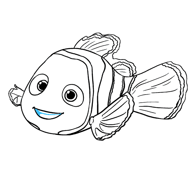 Dory clipart black and white.