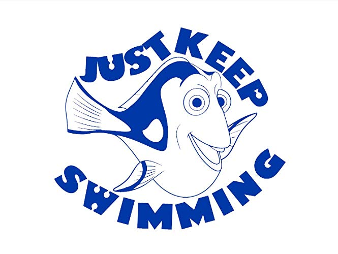 Dory clipart just keep swimming.