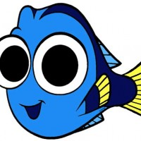 Dory clipart outline.