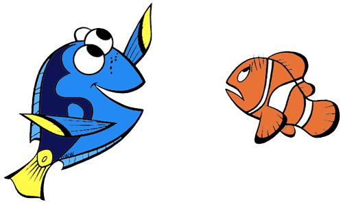 Dory clipart simple.