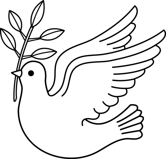 Dove clipart. Line drawing at getdrawings