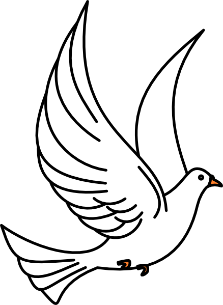 Dove clipart. Flying clip art free