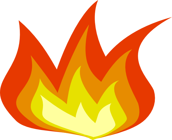 flame clipart transparent background