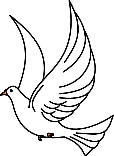 Dove clipart flying dove.